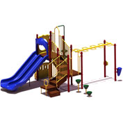 UPlay Today™ Maddie's Chase Commercial Playground Playset, Playful (Red, Yellow, Blue)