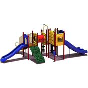 UPlay Today™ Carson's Canyon Commercial Playground Playset, Playful (Red, Yellow, Blue)