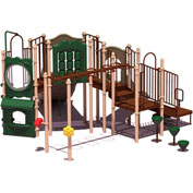 UPlay Today™ Eagle Rock Commercial Playground Playset, Natural (Green, Tan, Brown)