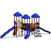 UPlay Today™ Rainbow Lake Commercial Playground Playset, Playful (Red, Yellow, Blue)