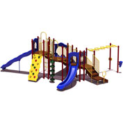 UPlay Today™ Slide Mountain Commercial Playground Playset, Playful (Red, Yellow, Blue)