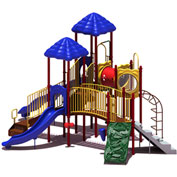 UPlay Today™ Clingman's Dome Commercial Playground Playset, Playful (Red, Yellow, Blue)