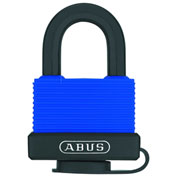 ABUS Weather-Sealed Rust-Resistant Brass Padlock 70IB/45 KD with SS Shackle - Keyed Different - Blue - Pkg Qty 3