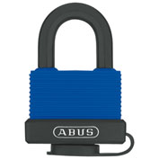 ABUS Weather-Sealed Rust-Resistant Brass Padlock 70IB/50 KD with SS Shackle - Keyed Different - Blue - Pkg Qty 3