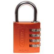 ABUS Anodized Aluminum Resettable 3-Dial Combination Lock 145/40 C - Orange - Pkg Qty 6