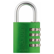 ABUS Anodized Aluminum Resettable 3-Dial Combination Lock 145/40 C - Green - Pkg Qty 6