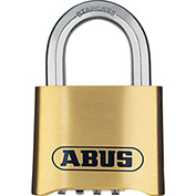 "ABUS Resettable 4 Dial Combination Padlock 180IB/50 C 5/16"" Dia. Shackle 2""W"