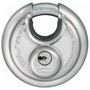 ABUS Stainless Steel Maximum Security Diskus 25/70 KA with Dimple Key - Keyed Alike