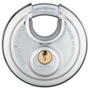 ABUS Steel Buffo Diskus Padlock 28/70 KD Keyed Different - Pkg Qty 6