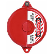 "ABUS V305 Gate Valve Lockout, 2.5 - 5"", Diameter, Red, 00364 - Pkg Qty 6"