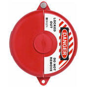 "ABUS V307 Gate Valve Lockout, 5 - 6.5"" Diameter, Red, 00365 - Pkg Qty 4"