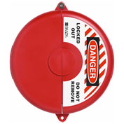 "ABUS V310 Gate Valve Lockout,  6.5 - 10"" Diameter, Red, 00366 - Pkg Qty 4"