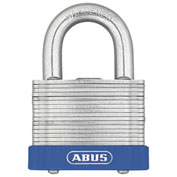 "ABUS Eterna Laminated Steel Padlock 41/45 C KD Keyed Different - Silver 1-3/4"" - Pkg Qty 6"