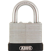 "ABUS Economy Laminated Steel Padlock 45/40 C KD 17/64"" Dia. Shackle - Keyed Different 1-1/2""W - Pkg Qty 3"
