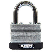 "ABUS Economy Laminated Steel Padlock 45/50 C KD 11/32"" Dia. Shackle - Keyed Different 1""W - Pkg Qty 3"