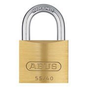 "ABUS Solid Brass Padlock 55/40 B KA Keyed Different 1-1/2"" - Pkg Qty 6"