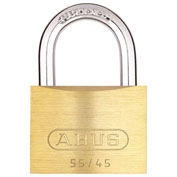 ABUS Solid Brass Padlock 55/45 B KA with Hardened Steel Shackle - Keyed Alike 1-3/4""