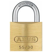 "ABUS Solid Brass Padlock 55/30 B KD Keyed Different 1-1/4"" - Pkg Qty 6"