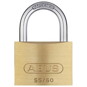 ABUS Solid Brass Padlock 55/60 B KA with Hardened Steel Shackle - Keyed Alike 2-2/5""