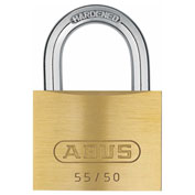 "ABUS Solid Brass Padlock 55/50 B KD Keyed Different 2"" - Pkg Qty 6"