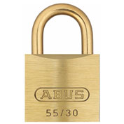 "ABUS Solid Brass Padlock 55MB/30 C KD with Brass Shackle - Keyed Different 1-1/4"" - Pkg Qty 6"