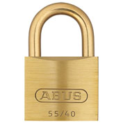 "ABUS Solid Brass Padlock 55MB/40 C KD with Brass Shackle - Keyed Different 1-1/2"" - Pkg Qty 6"