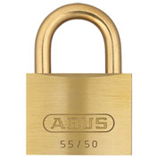"ABUS Solid Brass Padlock 55MB/50 C KD with Brass Shackle - Keyed Different 2"" - Pkg Qty 6"
