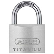 "ABUS Aluminum Padlock 54TI/35 KD C 3/16"" Dia Steel Shackle - Keyed Different 1-3/8""W - Pkg Qty 6"