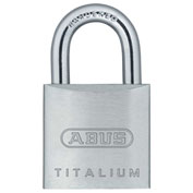 "ABUS Titalium Padlock 64TI/20 KD C 1/8"" Dia. Steel Shackle - Keyed Different 3/4""W - Pkg Qty 6"