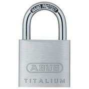 "ABUS Titalium Padlock 64TI/30 KD C 3/16"" Dia. Steel Shackle - Key Different 1-1/4""W - Pkg Qty 6"