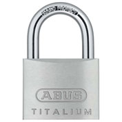 "ABUS Titalium Padlock 64TI/50 KD C 5/16"" Dia. Steel Shackle - Keyed Different 2""W - Pkg Qty 6"