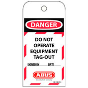 ABUS T100 Laminated Vinyl DO NOT OPERATE Safety Lockout Tag, 73004 - Pkg Qty 60