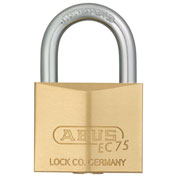 ABUS Premium Solid Brass Padlock 75/30 KD B with Reversible Dimple Key - Keyed Different - Pkg Qty 6