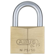 ABUS Premium Solid Brass Padlock 75/50 KD B with Reversible Dimple Key - Keyed Different - Pkg Qty 6