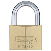 ABUS Premium Solid Brass Padlock 75/60 KD B with Reversible Dimple Key - Keyed Different - Pkg Qty 3