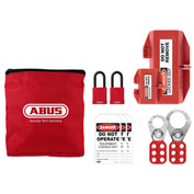 ABUS K910 Plug Large Safety Lockout Pouch Kit, 97178 - Pkg Qty 2