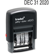 "U.S. Stamp & Sign Trodat® Self-inking Date Stamp, 4-Band, 3/8"" x 1-5/8"", Black"