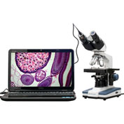 AmScope B120C-E1 40X-2500X LED Digital Binocular Compound Microscope with 3D Stage +1.3MP USB Camera