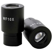 AmScope EP10x23 Widefield WF10X Microscope Eyepieces (23mm), 1 Pair