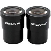 AmScope G-EP10X30 Super Widefield 10X Microscope Eyepieces (30mm), 1 Pair