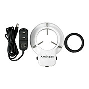 AmScope LED-48 LED Microscope Ring Light with Adapter