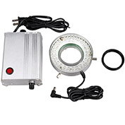AmScope LED-80MW 80-LED Microscope Ring Light with Metal Control Box and Adapter