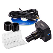 AmScope MU1003-CK 10MP USB3.0 Live Video Digital Microscope Camera & Calibration Kit