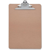 "Sparco™ Hardboard Clipboard, Nickel-Plated Clip, 9"" x 12-1/2"", Brown"