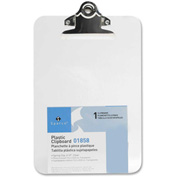 """Sparco™ Spring Clip Plastic Clipboard, 6"""" x 9"""", Clear"""