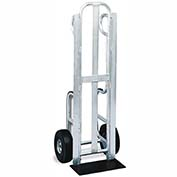 "Valley Craft® Trayless Aluminum 12-Pack Delivery Hand Truck F81797A2 - 8""D Shoe & Skid Rails"