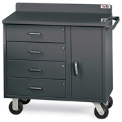 Vari-Tuff Mobile Utility Cabinet 36'' W x 21'' D x 34'' H - 4 Drawers & 1 Door (no shelf)