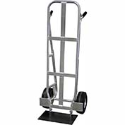 "Valley Craft® Flat Back Aluminum Beverage Hand Truck F84008A1 - 10""D Shoe, Fenders & Brakes"