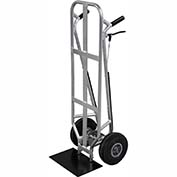 "Valley Craft® Flat Back Aluminum Beverage Hand Truck F84009A0 - 16""W x 10""D Shoe with Brakes"