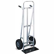 Valley Craft® Standard Utility Aluminum Hand Truck F84066A0 - Twin Handles - Pneumatic Wheels